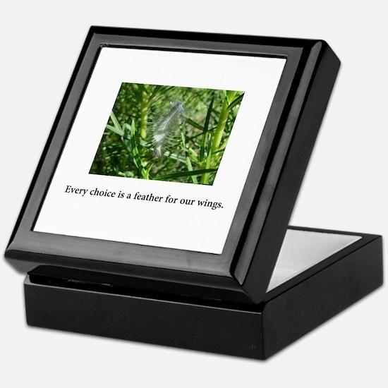 Every Choice Feather Gifts Keepsake Box