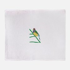 Gouldian Finch Throw Blanket