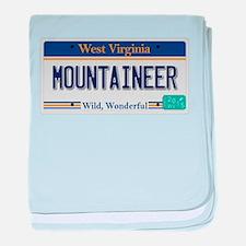 West Virginia - Mountaineer baby blanket