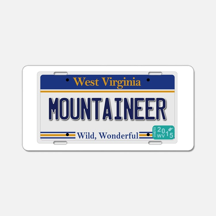 West Virginia - Mountaineer Aluminum License Plate