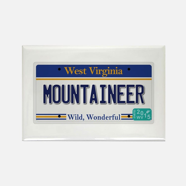 West Virginia - Mountaineer Rectangle Magnet