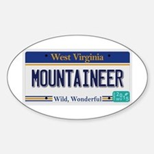 West Virginia - Mountaineer Sticker (Oval)