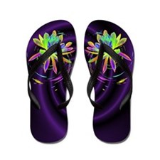 Psychedelic Flower Flip Flops