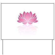 Pink Lotus Yard Sign