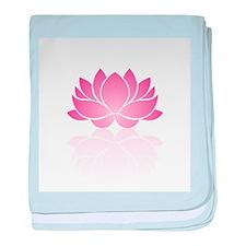 Pink Lotus baby blanket
