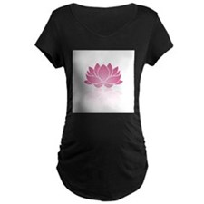Pink Lotus Maternity T-Shirt