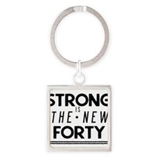 Strong is the New 40 Square Keychain