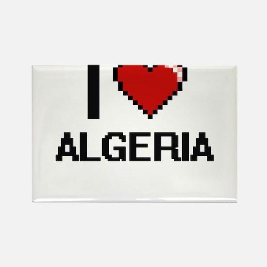 I Love Algeria Digital Design Magnets