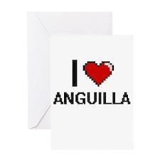 I Love Anguilla Digital Design Greeting Cards