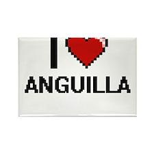 I Love Anguilla Digital Design Magnets