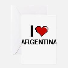 I Love Argentina Digital Design Greeting Cards