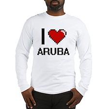 I Love Aruba Digital Design Long Sleeve T-Shirt