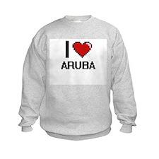I Love Aruba Digital Design Sweatshirt
