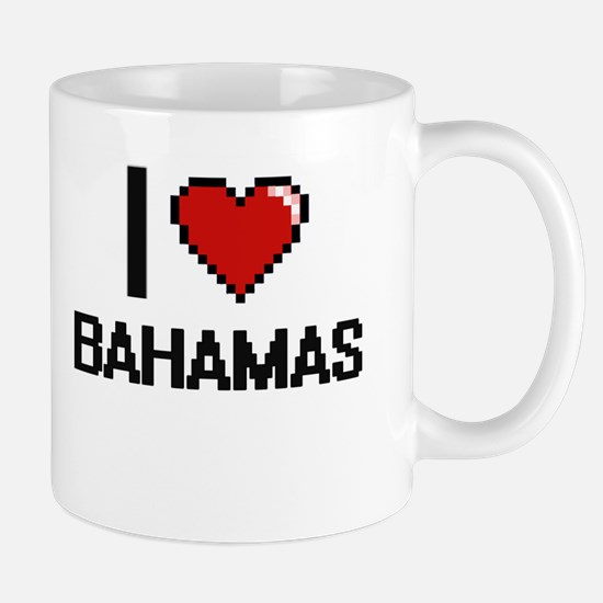 I Love Bahamas Digital Design Mugs