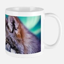 dream catcher northern light wolf Mugs