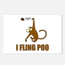 I Fling Poo Postcards (Package of 8)