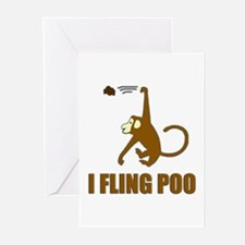 I Fling Poo Greeting Cards (Pk of 10)