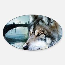 romantic moonlight wild wol Decal