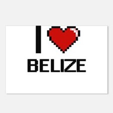 I Love Belize Digital Des Postcards (Package of 8)