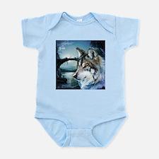 romantic moonlight wild wolf Body Suit
