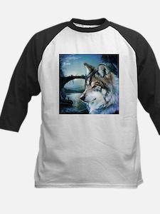 romantic moonlight wild wolf Baseball Jersey