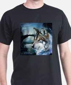 romantic moonlight wild wolf T-Shirt
