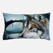 romantic moonlight wild wolf Pillow Case