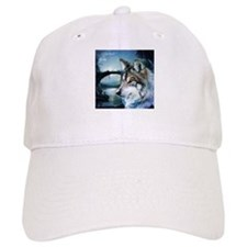 romantic moonlight wild wolf Baseball Cap