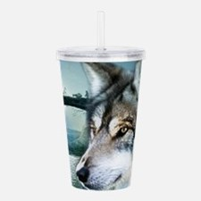 romantic moonlight wil Acrylic Double-wall Tumbler