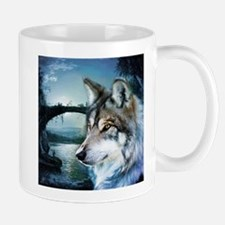 romantic moonlight wild wolf Mugs