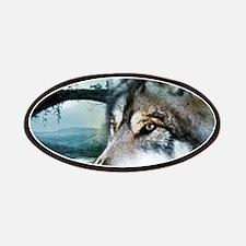 romantic moonlight wild wolf Patch