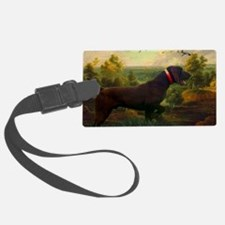 vintage hunting pointer dog Luggage Tag