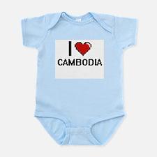 I Love Cambodia Digital Design Body Suit