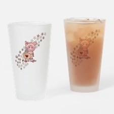 Piglet Loves Coffee Drinking Glass