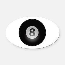 Billiards Eight Ball Oval Car Magnet