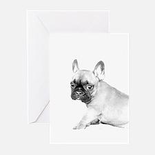 French Bulldog puppy Greeting Cards