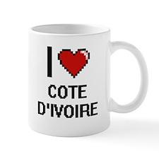 I Love Cote D'Ivoire Digital Design Mugs