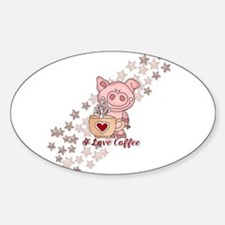Piglet Loves Coffee Decal
