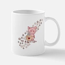 Piglet Loves Coffee Mugs