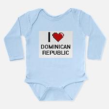 I Love Dominican Republic Digital Design Body Suit