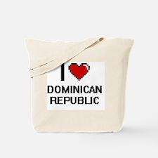 I Love Dominican Republic Digital Design Tote Bag