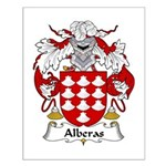 Alberas Family Crest Small Poster