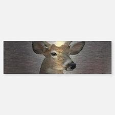grunge texture western deer Bumper Car Car Sticker