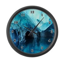 MARBLE CAVES 3 Large Wall Clock