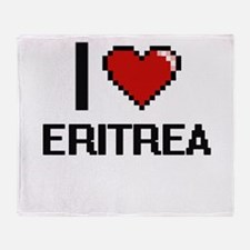 I Love Eritrea Digital Design Throw Blanket