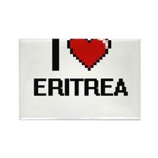 I Love Eritrea Digital Design Magnets