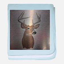 grunge texture western deer baby blanket
