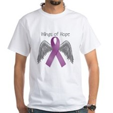 Wings of Hope in Purple Shirt