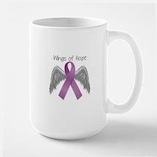 Wings of Hope in Purple Large Mug