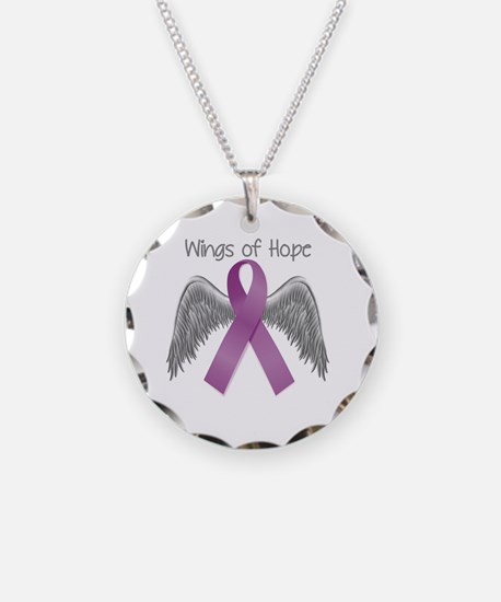 Wings of Hope in Purple Necklace